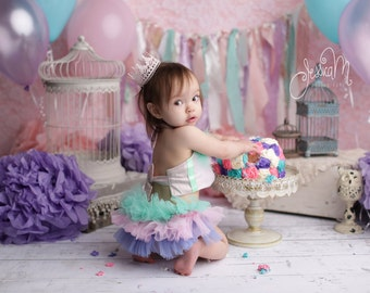 Vintage Ruffled Diaper Cover and Halter Top ...Lace or chiffon ruffles..Baby girl first Birthday Outfit..Chose your own colors