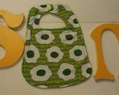 Baby bib, organic baby, green eggs, Dr. seuss, Sam I am