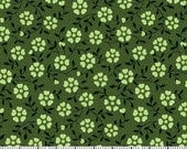 Green Flower Fabric for MDG Fabrics/Floral Cotton Quilt Craft Apparel/Fabric by the Yard/Fabric by the Half Yard/Fat Quarter/PRICES Vary