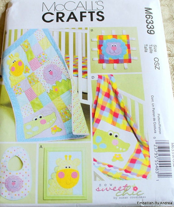 Baby Quilt Patterns Mccalls : SALE Baby Quilt Sewing Pattern McCalls 6339 by JacobandChloesLLC