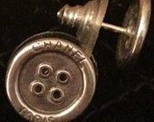 """C H A N E L  Sterling Silver """"Button Earring"""""""