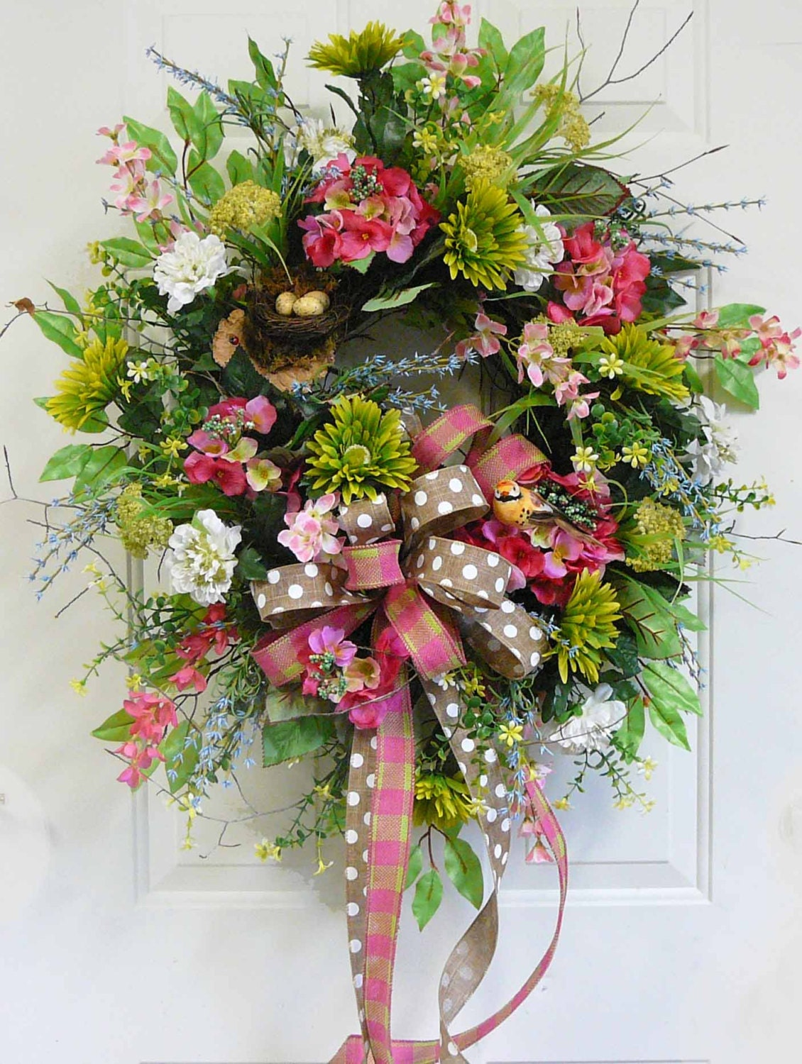 X Charming Spring & Summer Outdoor Wreath with Green