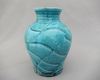Turquoise Pottery Ceramic Vase