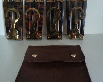 Early 1900's Travel hangers for Gano Downs Made in England