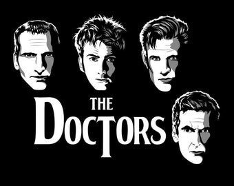 Doctor Who - 9th 10th 11th 12th Beatles Cover Crossover Fan Art Prints and Posters