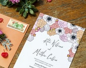 Spring Flower Wedding Invitation Template