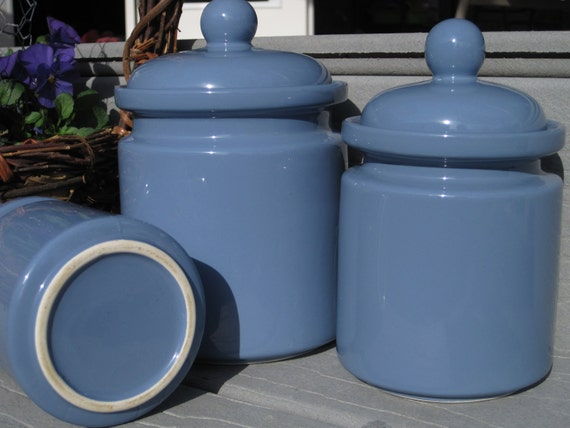 Periwinkle Blue Canister Set 3 Piece Canister Set Kitchen