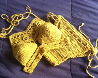 crochet halter bikini