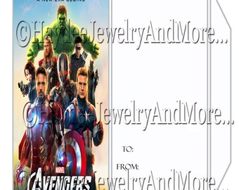Avengers Envelopes for your Tickets invite's