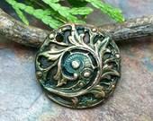 Artisan CopperPrecious Metal Clay  Pendant