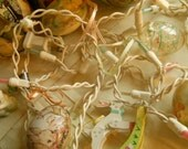 Vintage String of Easter Lights Pastel Bulbs on White Electrical Wire 2 Strings Available Easter Decorative Lighting Easter Supplies