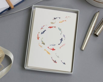 Koi Carp Luxury Boxed Card Set