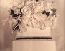 Wedding Card Box Ivory and Ebony, Wedding Money Box, Two Tier,  Custom Card Box, Handmade, Gift Card Boxes,  Wedding Gift Box