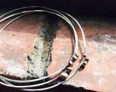 Orbital Bangles in Silver