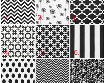 2 or 3 Bridesmaid Clutches Black Choose your fabric pattern and amount