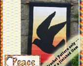 PDF Crochet  Pattern Peace Tapestry Wall Hanging