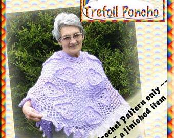 PDF Poncho Pattern Irish Crochet Style