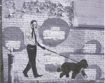 DC Graffiti President OBAMA walking Bo