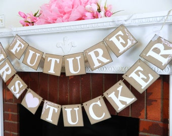 Rustic  Bridal Shower Decorations / Future Mrs. Banner / Soon to be Mrs Banner / Bridal Shower Banners / Your Color Choice