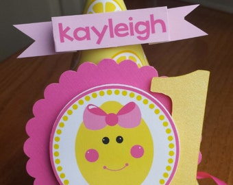 NEW - Pink Lemonade Birthday Party Hat