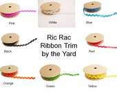 Trim ribbon Ric rac zig zag wavy craft ribbon by the yard uk sellers nylon ribbon haberdashery