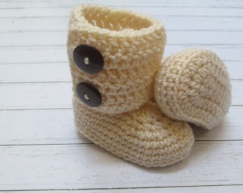 BEST SELLER Crochet Baby Boots, Booties, Photo Props Boy, Girl Baby Shower- 0-3m, 3-6m, 6-12m-Many colors