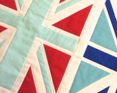 Reserved Listing for A - Union Jack Baby Quilt