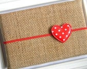 Valentine Headband - Red Heart Headband - Red Polka Dot Heart Headband - Heart Headband