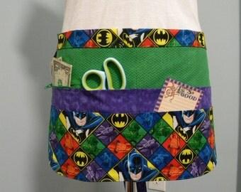 Teacher Aprons-Crafter Vendor Utility Apron-Batman-LAST ONE