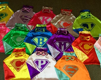 BUNDLE SUPERHERO PARTY Pak of Boys & Girls Reversible Super Hero Capes for Birthday Party Gifts
