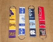 Keychain Wristlet - ECU - Pirates - Duke Blue Devils - UNC - Tarheels, Carolina - Chapel Hill - NC State - Wolfpack