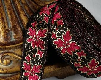 Vintage French Brocade Ribbon Trim #182-01 Metallic