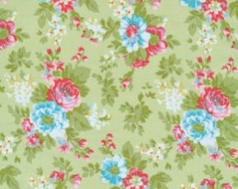 68019 Tanya Whelan Delilah collection flowers in  green TW34 - 1 yard