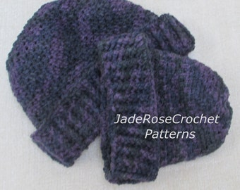 Crochet Hat Pattern Easy Hats for Baby and Adult. Mommy and Me Hats  PFD404
