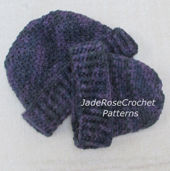 Really Easy Crochet Hat Patterns : Crochet Hat Pattern Easy Hats for Baby and Adult. Mommy and Me