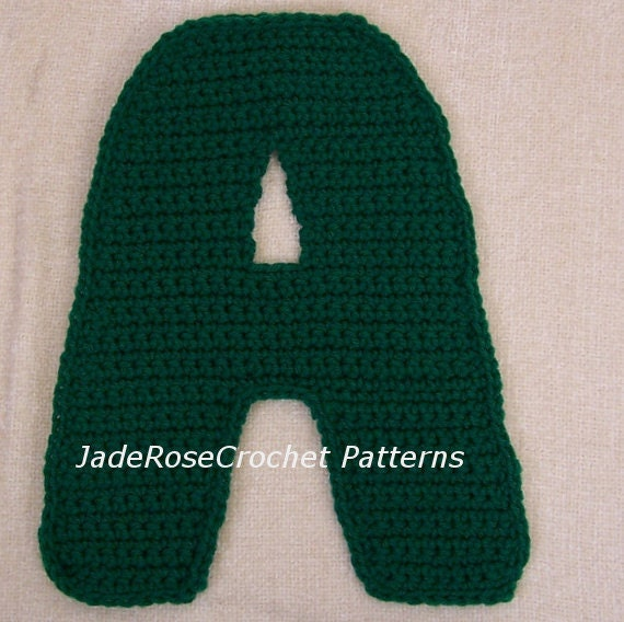 Free Crochet Letter Pillow Pattern : Crochet Letter G Pattern 3D pillows 5 Sizes Appliques by ...