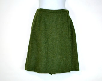 1960s/1970s Green Wool Skort by Leon Levin Sportswear, Tennis, Sports, Activewear