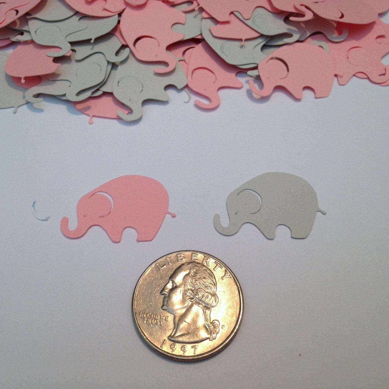 Elephant Confetti Pink Gray Elephant Elephant Die Cut