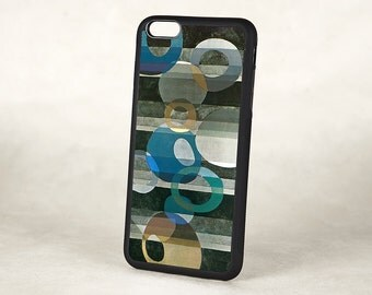 Abstract Art Deco iPhone 5 Case, Mod iPhone 6 case,  Silicone Rubber Vintage iPhone 6 Plus Case, iPhone 7 Case