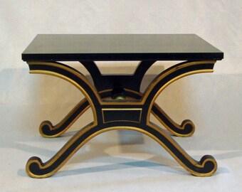 Vintage Dorothy Draper Style Hollywood Regency Table Bench