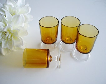 Cordial Glasses Sweet Wine Glasses Luminarc Cavalier Glass Set Yellow Amber Set of 4