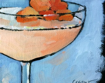 Martinis • Daily Painting • Oil Paintings • Original Art • Daily Painters • Peach Flower