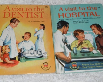 2 Wonder Books A Visit to the Dentist and A Visit to the Hospital