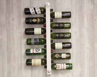 Antique White Wine Rack 12 Bottle High Capacity