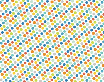 Gumballs Blue Dots from Blend Fabrics