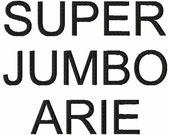 "SUPER JUMBO Arie - Machine Embroidery Font - Sizes 8"", 9"" & 10"""