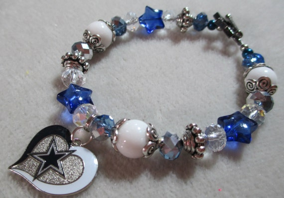 dallas cowboys charm bracelet dallas cowboys charm bracelet navy silver by 5540
