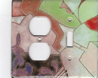 enameled copper light switch/outlet cover/ abstract