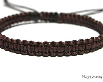 Brown Bracelet, Men's Bracelet, Cord Bracelet, Rope Bracelet, Macrame Bracelet, Men's Jewelry, Gift For Man, Husband Gift, Mens Gift