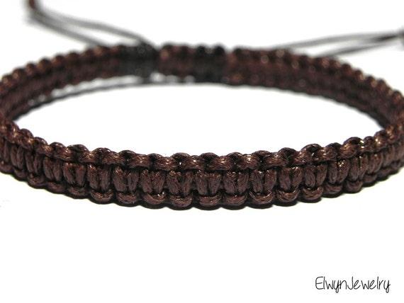 bracelet marron bracelet homme cordon bracelet bracelet. Black Bedroom Furniture Sets. Home Design Ideas
